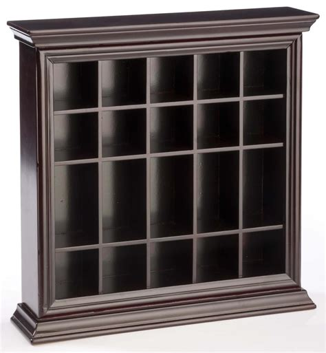 shot glass holder cabinet shot glass cabinet mahogany wooden countertop or wall
