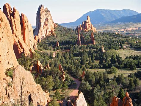 Garden Of The Gods Colorado Springs Co by Central Garden View South Garden Of The Gods Colorado