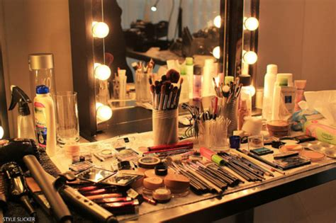 backstage makeup mirror with lights backstage brushes cosmetics fashion lights up