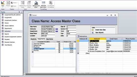 ms office access templates student database microsoft access templates