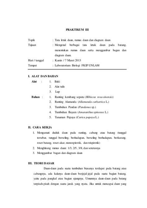 laporan praktikum ipa cara membuat magnet laporan praktikum 3 tata letak daun rumus daun dan diagram