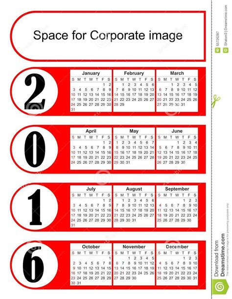 layout calendar design 2016 2016 vertical calendar with simply red graphic design eps