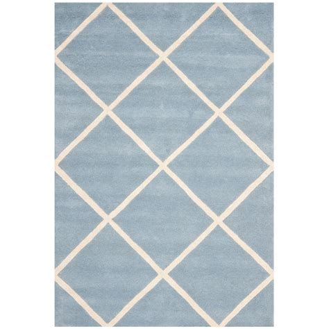 blue rugs 6 safavieh chatham blue ivory 4 ft x 6 ft area rug cht720b 4 the home depot