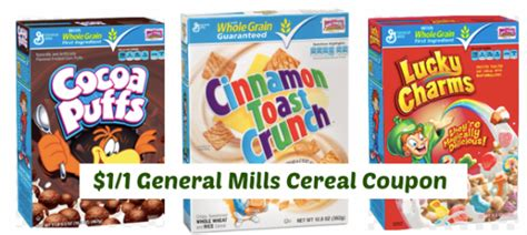 1 1 general mills cereal coupon lucky charms and