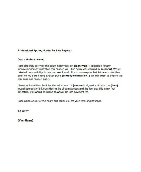business apology letter late payment professional apology letter 17 free word pdf format