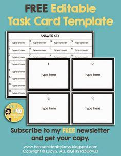 free blank task card recording sheets need a recording