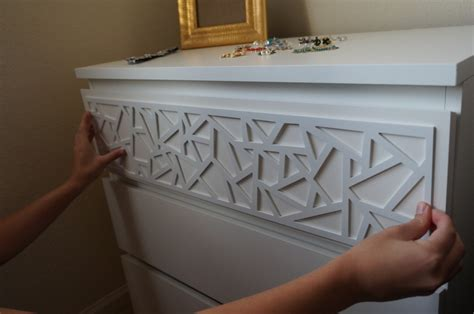 ikea malm hacks add instant glam to your ikea furniture using overlays