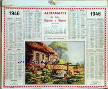 Calendrier De 1946 Calendrier Des Postes Et Des Telegraphes Mus 233 E De La Presse