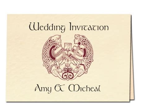 Celtic Wedding Invitations by Celtic Wedding Invitations Personalised Celtic Wedding