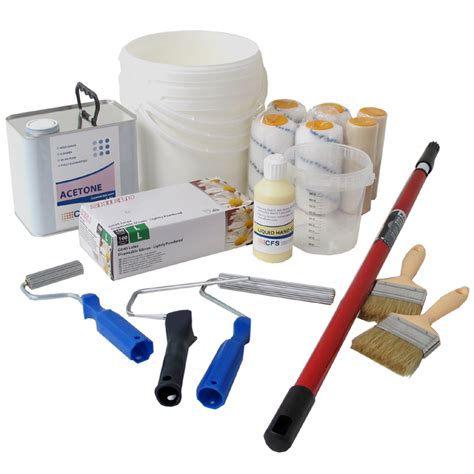 lister roofing tools cure it 600g grp fibreglass roofing kits with tools 100