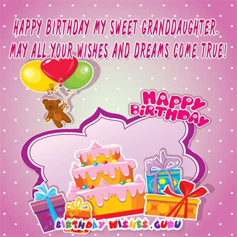 Happy Birthday Wishes To My Granddaughter Happy Birthday Wishes For Granddaughter
