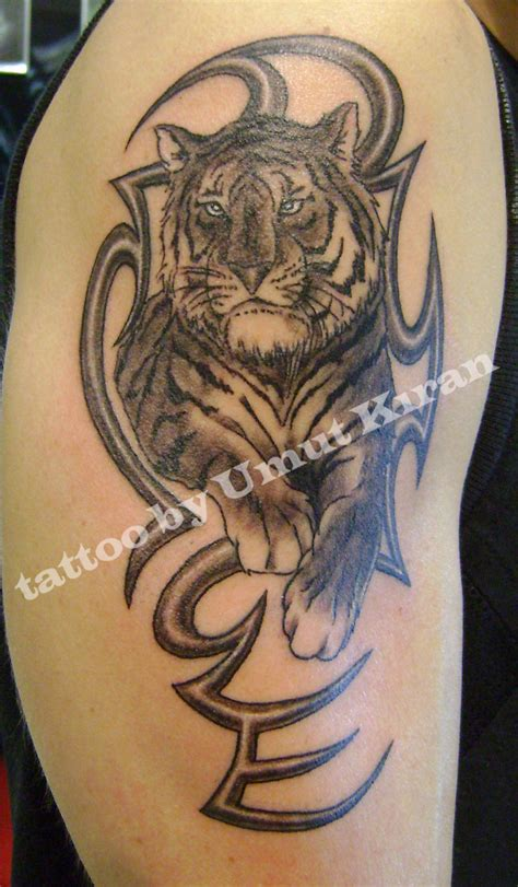 real tribal tattoos collection of 25 grey ink tiger tribal for biceps