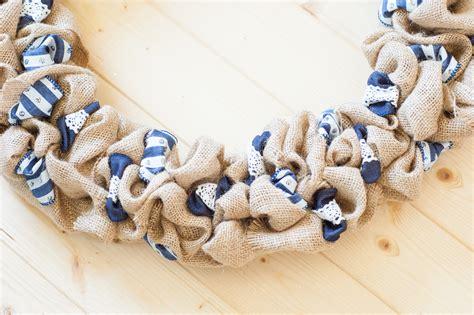 burlap  ribbon wreath   craft