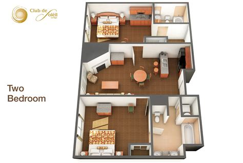 two bedrooms 2 bedroom suites at club de soeil
