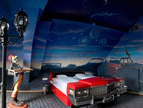 space themenzimmer v8 hotel in stuttgart offers automotive themed rooms