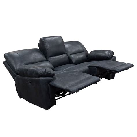 Suede Reclining Sofa by Sofa Faux Suede Reclining Sofa In Black