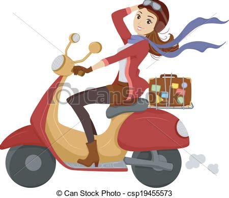 Free Small House Plans by Scooter Illustration Of A Happily Driving A