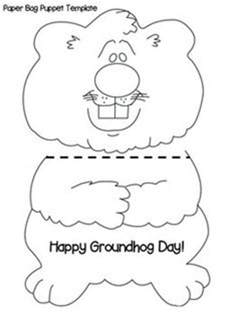 groundhog template best photos of groundhog puppet template groundhog paper