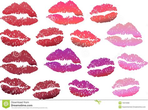 lip print stock photo image 13516380