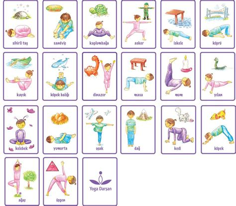 printable yoga pose flashcards daily milk memory cards for yoga school relax