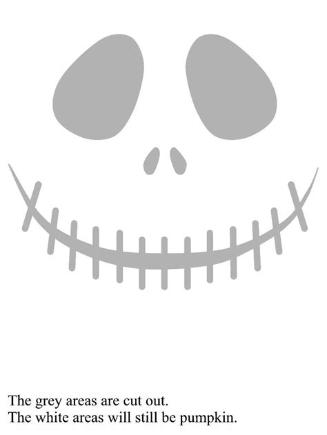 skellington pumpkin carving template skellington pumpkin stencil nightmare before
