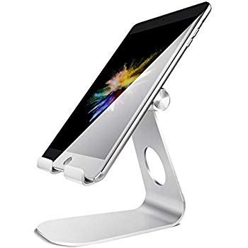 tablet stand for desk amazon com amazonbasics adjustable tablet stand