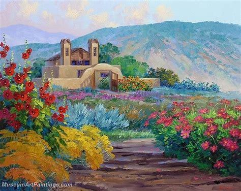 Paintings Of Flower Gardens Flower Garden Painting 008
