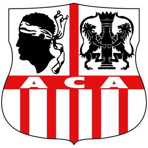 Stiker Ac stickers ac ajaccio 2 pas cher