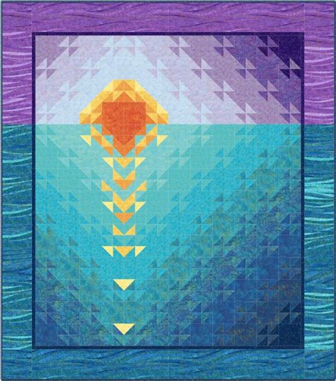 at sea quilt template sunset at sea quilt pattern downloadable