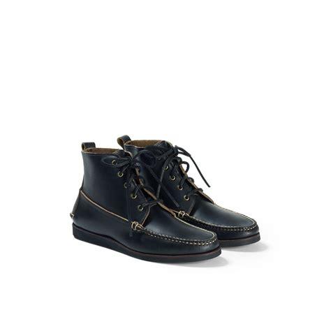 club monaco rancourt 5 eyelet boot in black for lyst