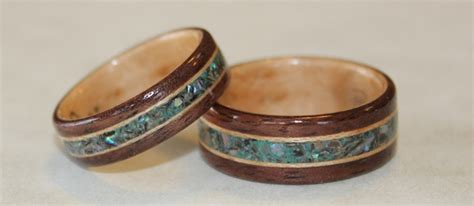 Wedding Rings Made Of Wood by Wooden Rings From Touch Wood Rings Finely Handcrafted And
