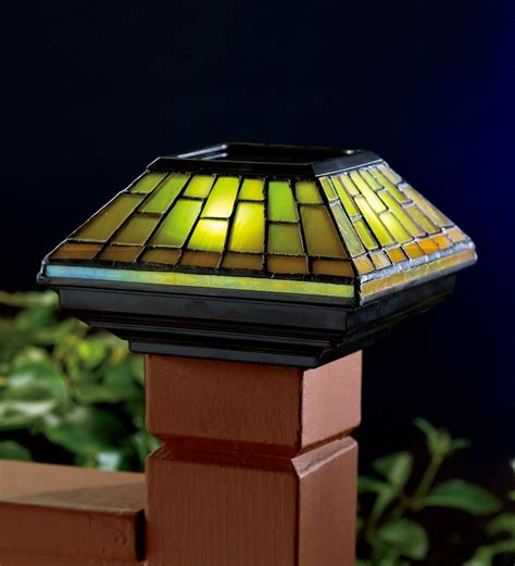 stained glass solar lights 89 best images about driveway pillars on
