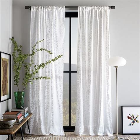 modern drapes khadi blockprint window panel modern curtains by