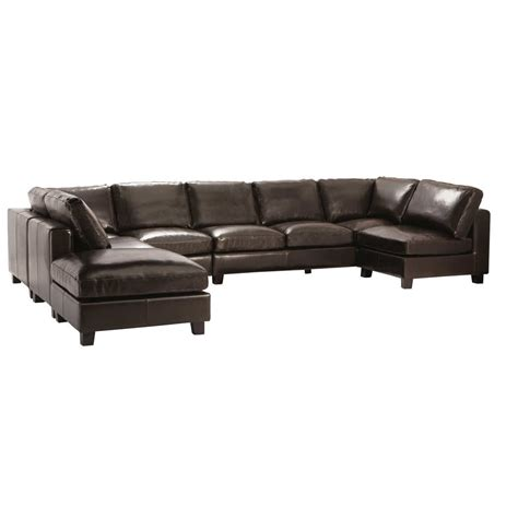 7 seat sectional sofa 7 seater split leather u shaped corner sofa in chocolate