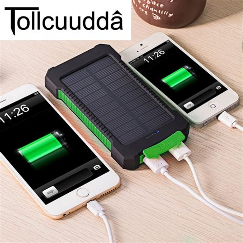 Power Bank Solar Waterproof tollcuudda waterproof 10000mah solar power bank solar