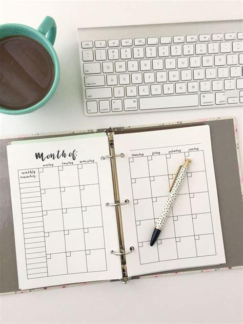 printable calendar insert monthly calendar free printable planner insert monthly