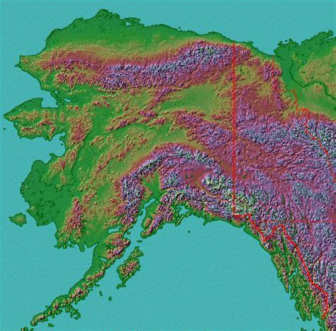 physical map of alaska alaska maps and state information