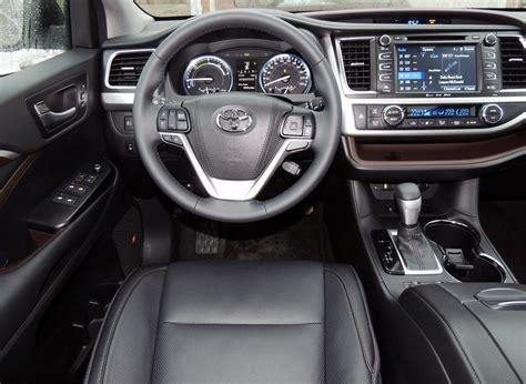 toyota highlander 2016 interior hefty toyota highlander hybrid surprisingly easy on fuel