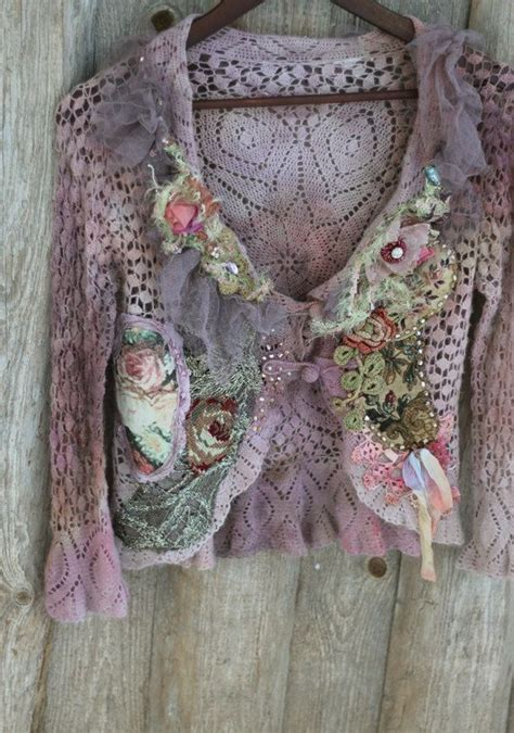 Cardi Bohemian by Baroque Cardi Shabby Chic Bohemian Cardi Antique Laces