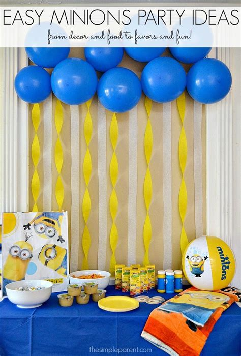 simple net for party decoration celebrate with easy minions ideas