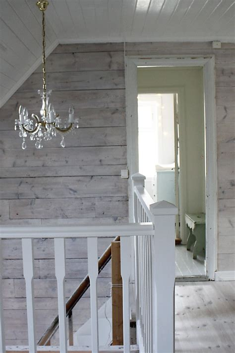 Gray Shiplap Wall Whitewashed Shiplap Walls The Chandelier