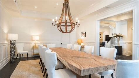 Natural Wood Dining Room Table | contemporary dining room with natural wood table just