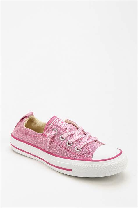 sneaker pink converse shoreline linen womens lowtop sneaker in pink lyst
