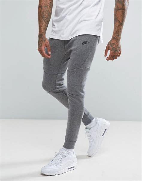 Joger Nike Original Asli Grey lyst nike tech fleece joggers in grey 805162 091 in gray for