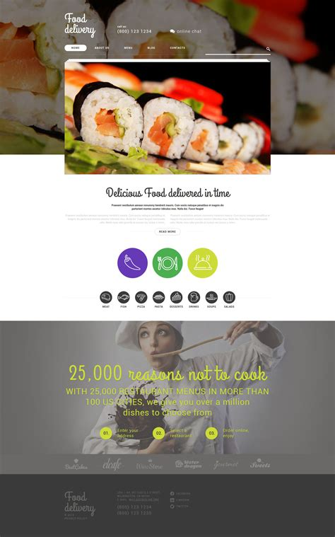 Food Delivery Services Wordpress Theme Grocery Delivery Website Template