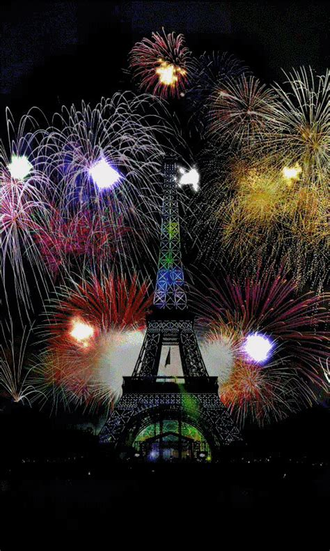 beautiful fireworks in paris france happy new year gif