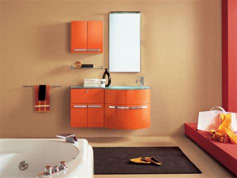 mobili bagno artesi topazio mobile da bagno arancio cm 120 top in cristallo