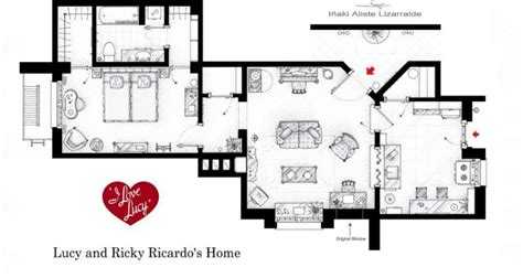 apartments accurate floor plans of 15 famous apartments i love lucy apartment floor plan