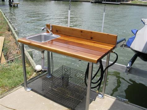 stainless steel fish cleaning table 37 fish cleaning station with sink mobile fish cleaning