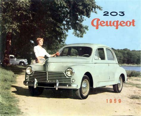 peugeot saloon cars 1950 peugeot 203 family saloon carsaddiction com